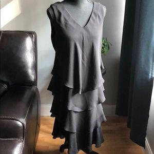 EUC Patra Black sleeveless Flowy black dress 12